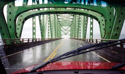 Heading over the Astoria-Megler Bridge, the coast's connection across the Columbia River between Oregon and Washington. Photo by Doug Bowers (www.dougb.net)